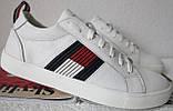 Tommy Hilfiger кожаные белые кеды! Туфли мужские кроссовки в стиле Томми Хилфигер, фото 7