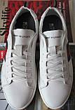 Tommy Hilfiger кожаные белые кеды! Туфли мужские кроссовки в стиле Томми Хилфигер, фото 8