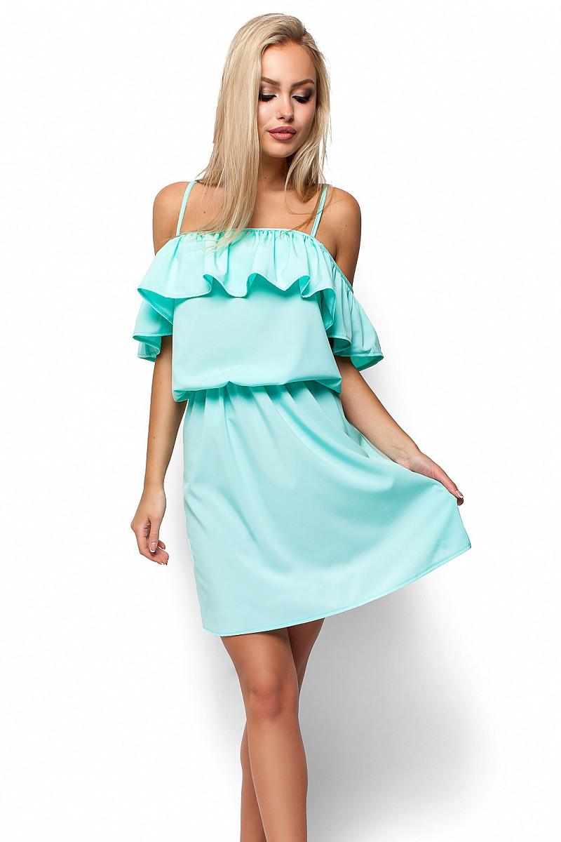 (S-M) Витончене ментолове повсякденне плаття Dinaly