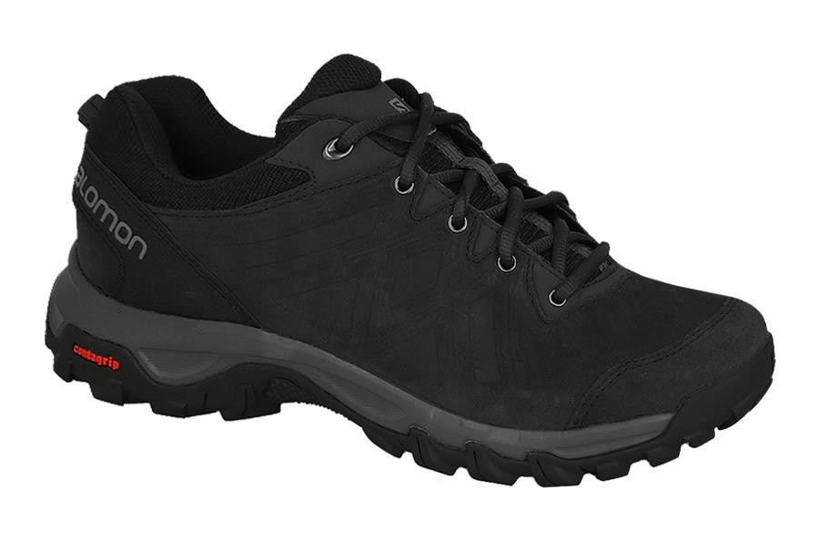 Мужские кроссовки SALOMON EVASION 2 LTR (398566) черные кожаные