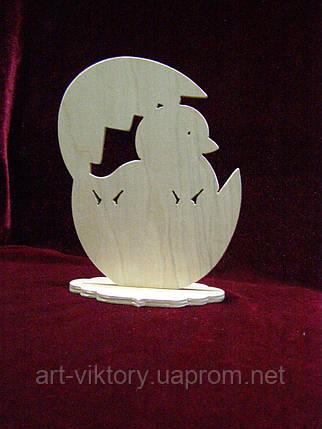 Пасхальне яйце на підставці з пташеням, фото 2