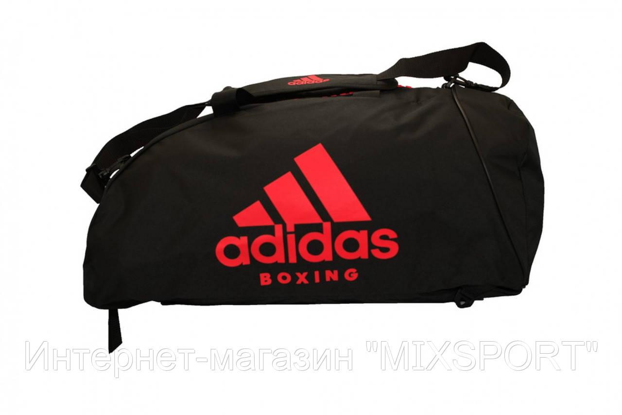 Сумка-рюкзак (2 в 1) ADIACC052B. Цвет черный, красный логотип