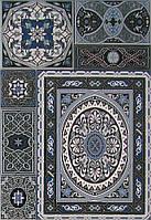 Плитка Атем настенная облицовочная Atem Aladdin Pattern Mix BL 275х400 мм голубая