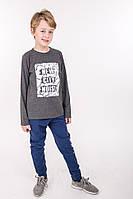 Модный детский комплект для мальчика (кофта и штаны) темно-серый