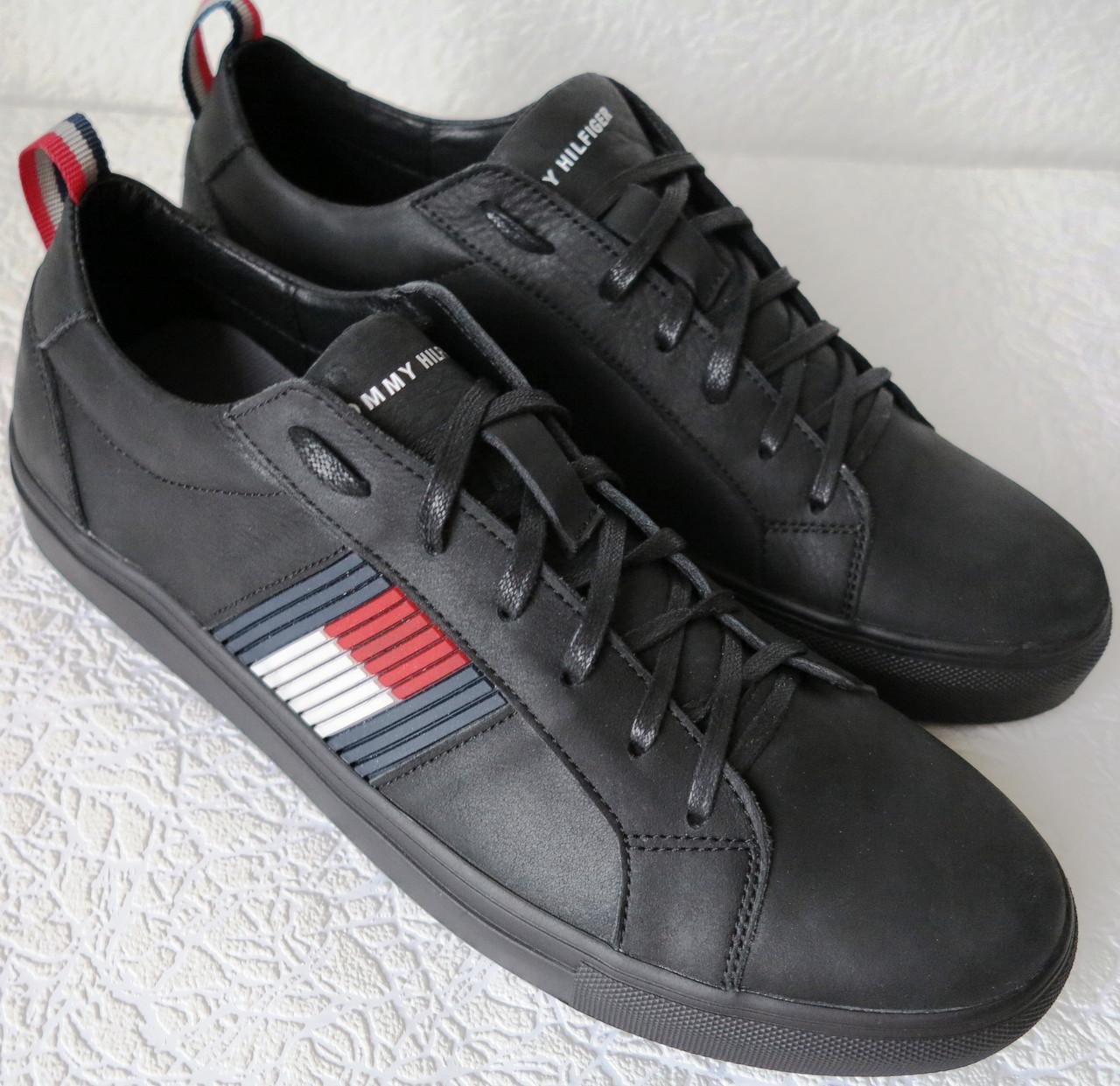 3c45aaf74cbfe Tommy Hilfiger кожаные чёрные кеды! Туфли мужские Супер ! Идеальная реплика  Томми Хилфигер