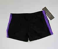 Детские плавки шорты на мальчика Черный + Фиолетовый