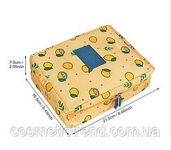 Косметичка/несессер женская дорожная Trevel Season Bag  Navy Blue Lemon 22*17*8 см, фото 2