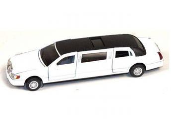"Машинка KINSMART ""Lincoln Town Car Stretch"" (белый)"