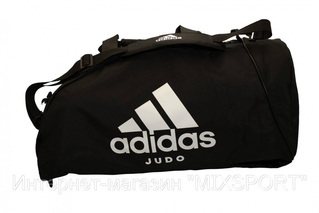Сумка через плечо - рюкзак, Адидас дзюдо, черный / белый adiACC052J
