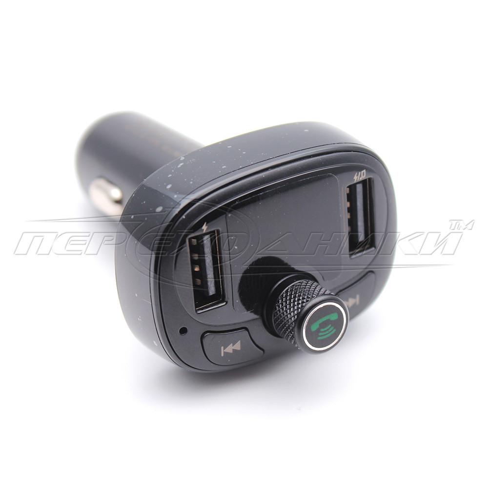 Автомобильный Bluetooth FM-трансмиттер модулятор 2.4A (2USB), черный