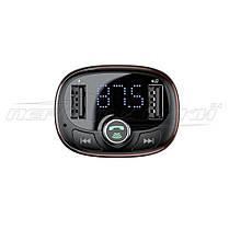 Автомобильный Bluetooth FM-трансмиттер модулятор 2.4A (2USB), черный, фото 3