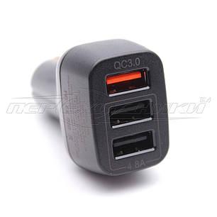 QC3.0 Автомобильное зарядное устройство USB 4.8A (3USB), фото 2