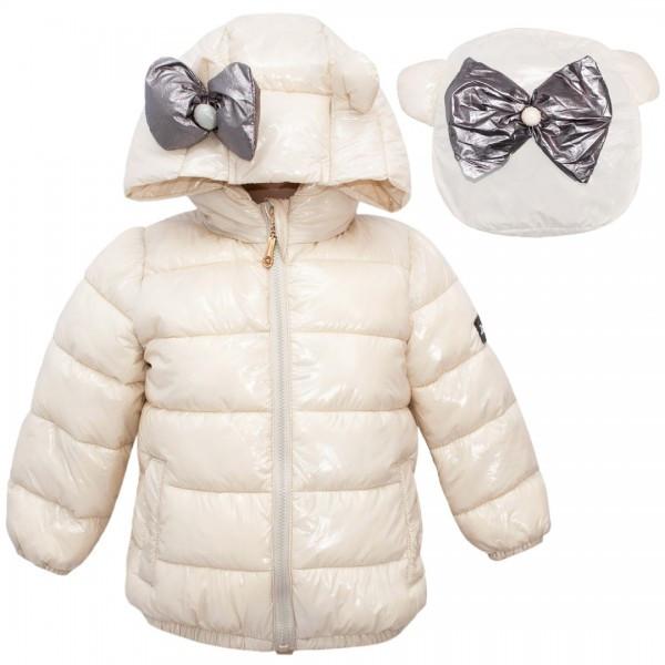 Детская демисезонная куртка для девочки с рюкзачком, размеры 90-130