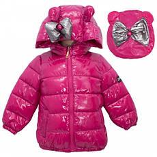 Детская демисезонная куртка для девочки с рюкзачком, размеры 90-130, фото 3