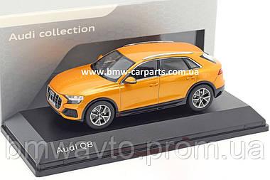 Масштабна модель Audi Q8, Dragon Orange, Scale 1:43, фото 3