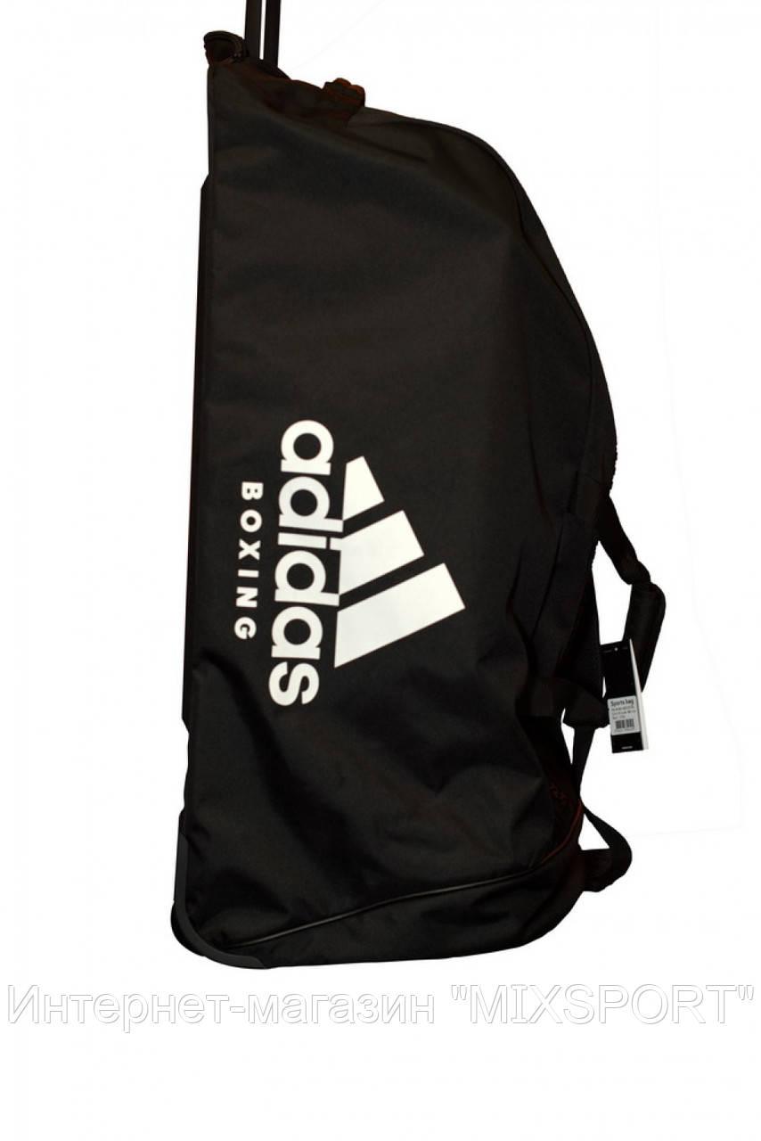 Сумка на колесах ADIACC057B. Цвет черный, белый логотип adidas Boxing.