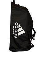 Сумка на колесах ADIACC057B. Цвет черный, белый логотип adidas Boxing., фото 1