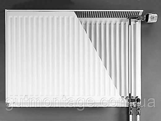 Purmo. Радиатор стальной панельный. 22й тип, нижнее подключение. 500х400