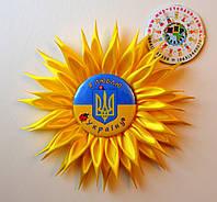 Значок Украина с розеткой Солнышко