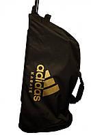 Сумка на колесах. Цвет черный, золотой логотип adidas карате. CC057K, фото 1
