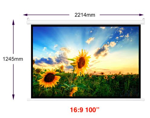Экран для проектора 100 inc, проекционный экран, полотно для проектора