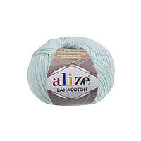 Пряжа Alize Lanacoton 522 мята ( нитки для вязания Ализе Ланакотон, Ализе Лана Коттон, Ализе Лана Котон)