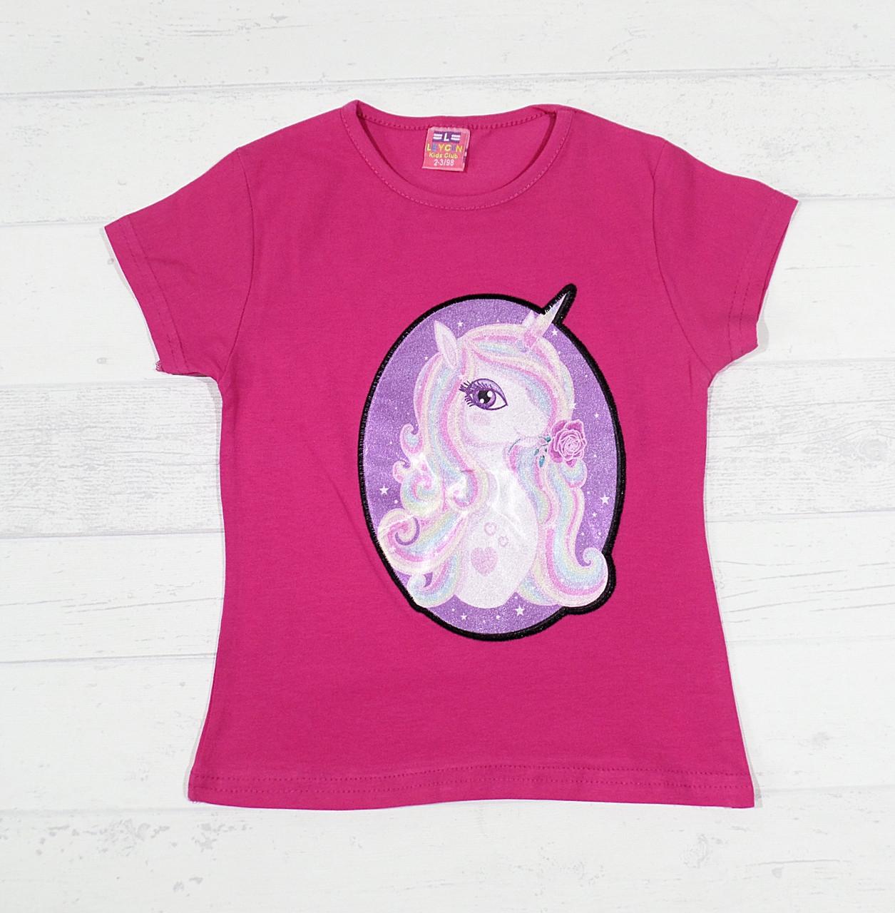 fa2fc7cd17716d8 Детская футболка на девочку 3,4,5,6,7 лет (единорожка мигает ...