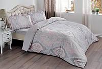 Постельное белье сатин Tac семейный Velas розовый