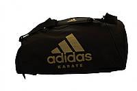 Сумка adidas CC055K. Цвет черный, золотой логотип карате., фото 1