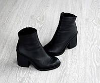 Кожаные женские демисезонные ботинки, фото 1