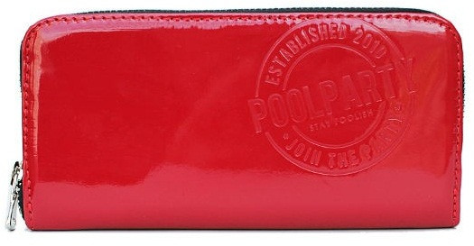 5287aa6a0843 Кошелек женский Poolparty poolparty-laquer-red-wallet кожзам красный -  SUPERSUMKA интернет магазин