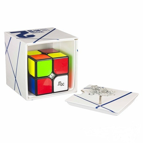 Кубик Рубика 2х2 YJ MoYu MGC Magnetic в коробке (чёрный) (MoYu)