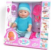 "Кукла Пупс ""Baby born"",42 см,9 аксессуаров,,9 функций"
