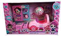 Игровой набор LOL Лол с машинкой и мебелью Машина для LOL Машинка Лол