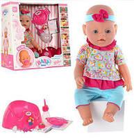 Пупс кукла Baby Born 42 см,9 аксессуаров,9 функций, BB 8001-8