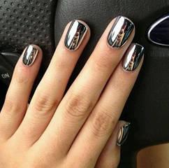 Втирка для ногтей серебро