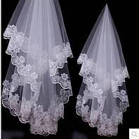 Свадебная фата (с кружевами)