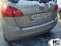 Накладка на бампер с загибом KIA VENGA с 2010 г.