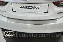 Накладка на бампер с загибом Mazda 6 III/FL с 2013 г.