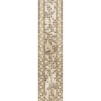 Плитка Атем Бейж настенная фриз Atem Beige Curl BC 140 х 595 мм