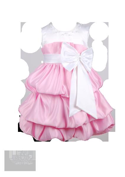 Эффектное платье для девочки с бантом