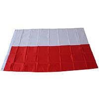 Флаг Польши, полноразмерный 150см/90см (Новый) Прапор Польщі