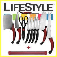 Набор кухонных ножей Contour Pro Knives с магнитным держателем в Подарок