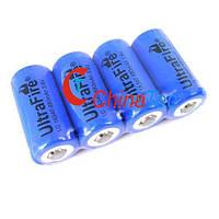 4 х UltraFire 16340 CR123A 3.7V перезаряжаемая литиевая батарея