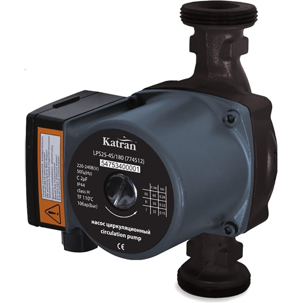 Насос циркуляционный 100Вт Hmax 6м Qmax 75л/мин Ø1 130мм + гайки ؾ Katran (774531)