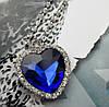 Сердце цепочка кулон Титаник большой с кристалами