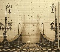 Плитка Атем Бейж настенная пано Atem Bridge 885x1190 мм