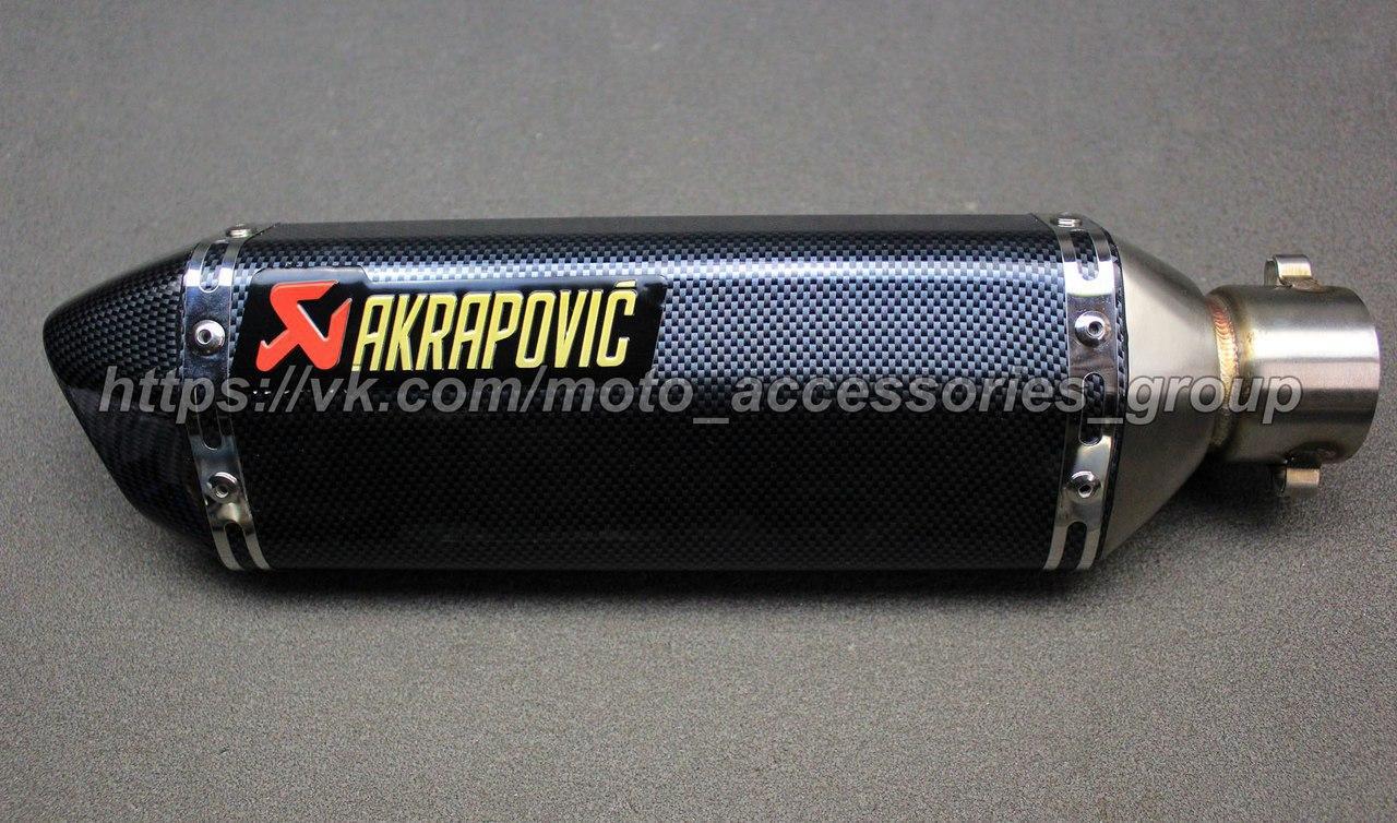 Прямоточный глушитель (прямоток) Akrapovic Hexagonal Carbon на мотоцикл