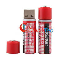 2 х 1450 мАч аккумуляторная батарея AA USBBatt