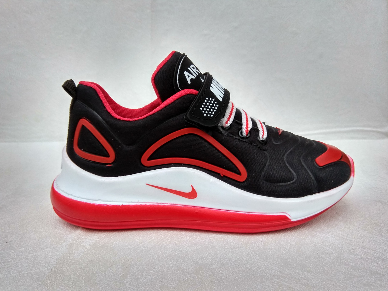 04a5ddea1 Детские кроссовки Nike оптом N720 black/red (р.31-35) Турция реплика ...
